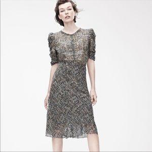 ISABEL MARANT X H & M Iconic Silk Peacock Dress